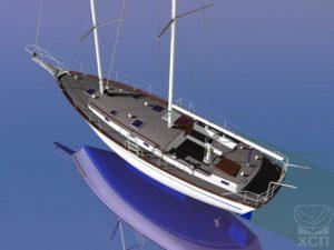Яхта в стиле ретро