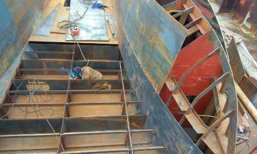 Постройка яхты из стали